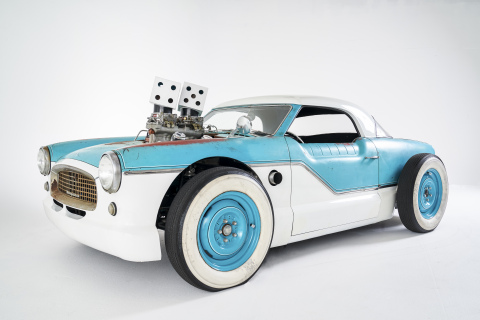 """The Hot Wheels Legends Tour 2019 winner """"The Nash,"""" captured at SEMA Show 2019 in Las Vegas, Nev. (Photo: Business Wire)"""