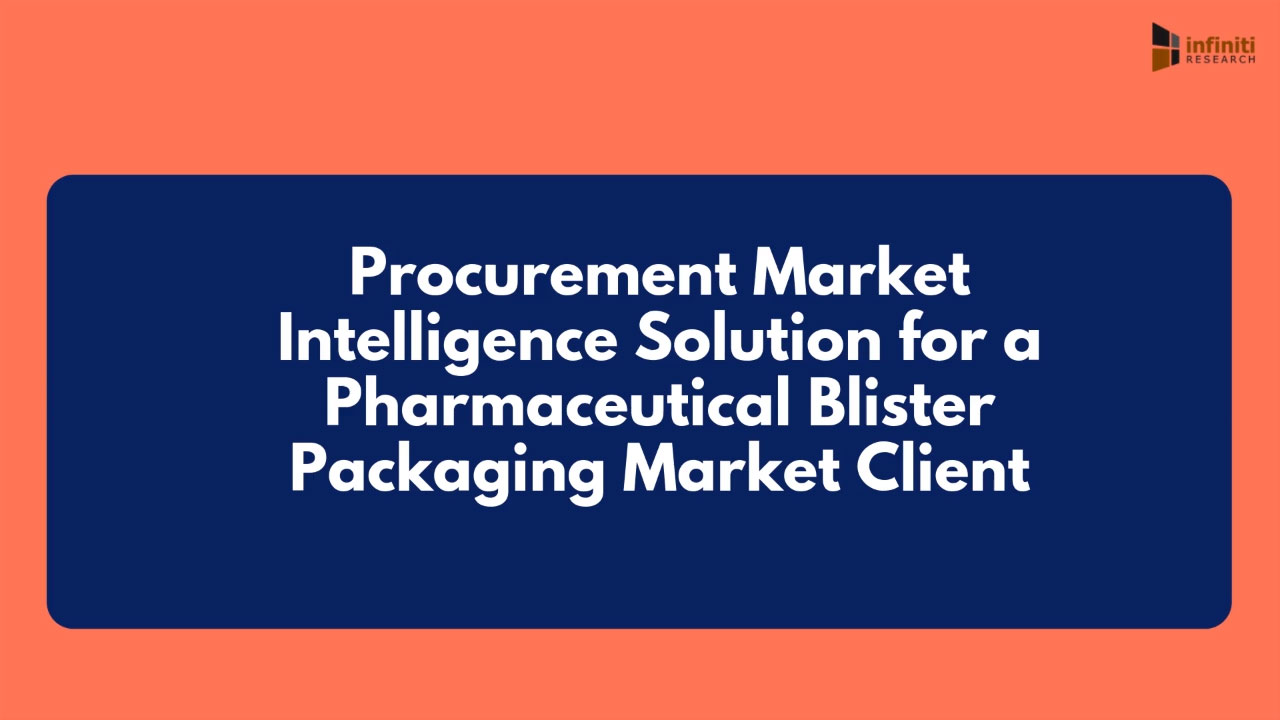 Infiniti Helped a Pharmaceutical Blister Packaging Firm Devise a Proprietary Procurement Model