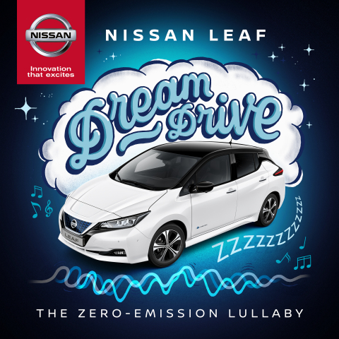 Album artwork: Nissan dreamt up the world's first zero-emission lullaby, a soundtrack that fuses sounds of the Nissan LEAF with frequencies produced by a humming combustion engine to create a hypnotic soundscape for angry babies (Photo: Business Wire)