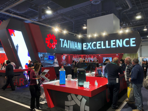 Taiwan Excellence Pavilion at 2020 CES Show (Photo: Business Wire)
