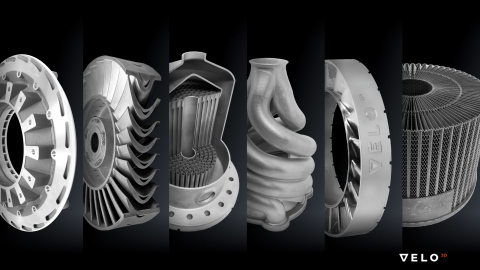 Sample additively manufactured parts demonstrate how VELO3D's unique metal printing process can produce geometries that were previously impossible; applications include aviation, oil & gas, aerospace and other industrial markets. (Photo: Business Wire)