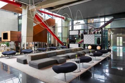 Lobby inside Hyatt Regency Barcelona Tower (Photo: Business Wire)