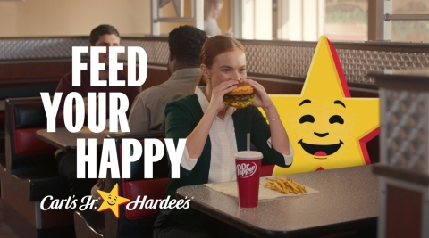 Carl's Jr. and Hardee's New 'Feed Your Happy' Campaign (Photo: Business Wire)