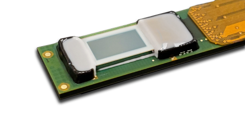 Plessey's monolithic GaN-on-Silicon IP, fabrication technology and bonding processes match perfectly with CP's industry leading 3.015μm 1080p (1920x1080 pixel) backplane design. (Photo: Business Wire)