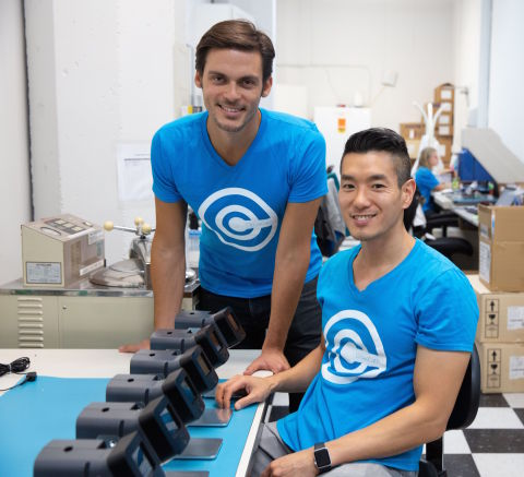 CloudCath co-founders CEO Aly ElBadry (L) and CTO Eric Yu (R) (Photo: Business Wire)