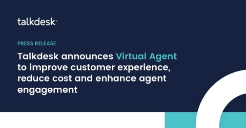 Virtual Agent is first of Talkdesk's aggressive 20-in-20 release program to storm the contact center industry through product innovation (Graphic: Business Wire)