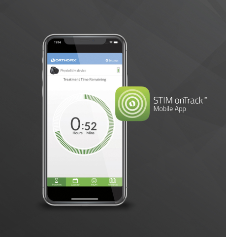 STIM onTrack 2.1 Mobile App for Bone Growth Stimulators (Photo: Business Wire)