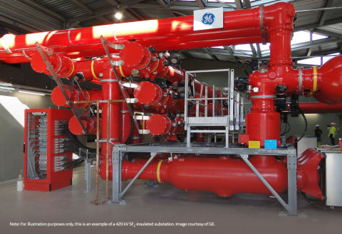 For illustration purposes only, this is an example of a 420 kV SF6-insulated substation. Image courtesy of EU LIFE18 CCM/FR/001096 project.