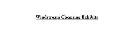 Windstream Cleansing Materials