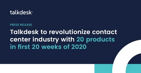 Bold 20-in-20 product introductions from Talkdesk begins with Virtual Agent and culminates at Opentalk 2020, the premier customer experience event of the year (Graphic: Business Wire)