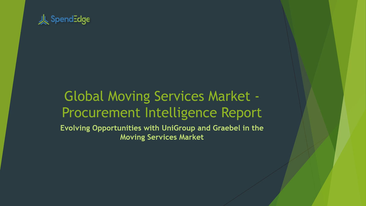 SpendEdge, a global procurement market intelligence firm, has announced the release of its Global Moving Services Market - Procurement Intelligence Report.