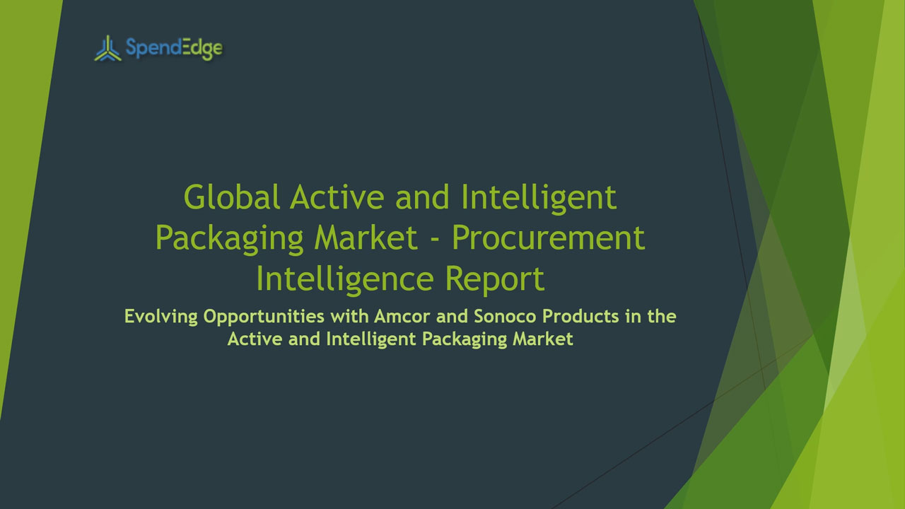 SpendEdge, a global procurement market intelligence firm, has announced the release of its Global Active and Intelligent Packaging Market - Procurement Intelligence Report.