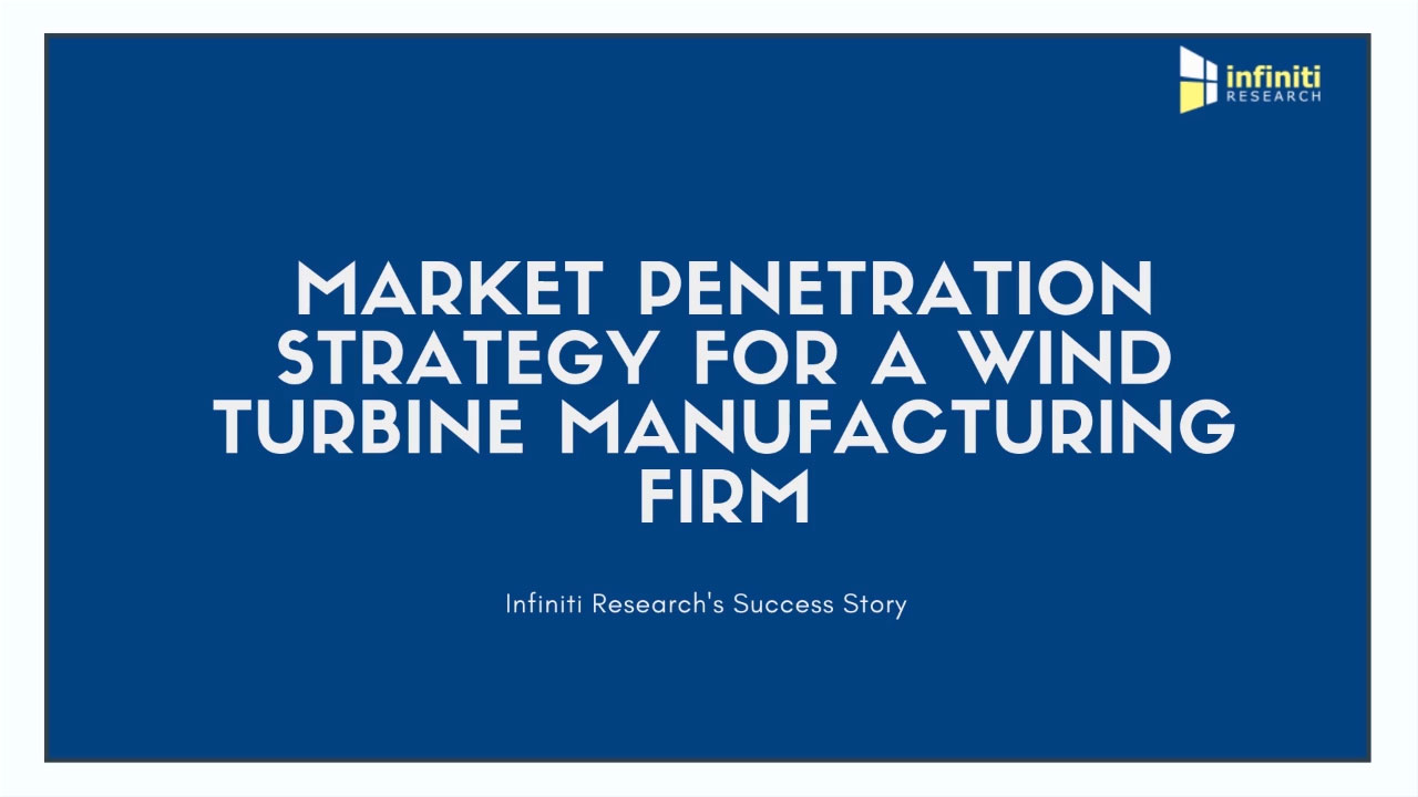 Infiniti Reduced Demand Shortfall by 22% for a Wind Turbine Manufacturing Firm