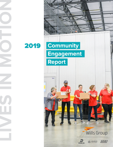 The Wills Group 2019 Community Engagement Report is available for download at willsgroup.com/community. (Graphic: Business Wire)