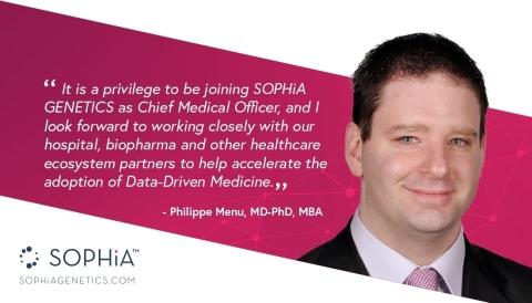 Dr. Philippe Menu joins SOPHiA GENETICS (Photo: SOPHiA GENETICS)
