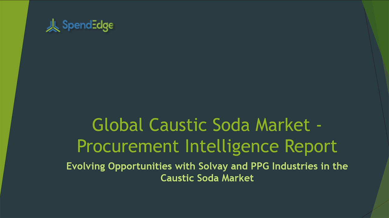 SpendEdge, a global procurement market intelligence firm, has announced the release of its Global Caustic Soda Market - Procurement Intelligence Report.