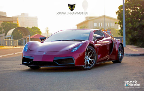 Spark Connected and Vega partner on the 804hp Electric Supercar At The Geneva International Motor Show 2020 (Photo: Business Wire)