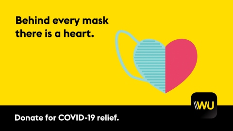 Western Union Launches Worldwide Coronavirus Relief Drive (Graphic: Business Wire)