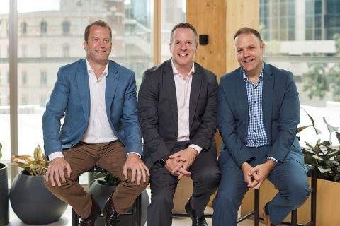 Pictured L to R: Peter Collett, co-founder and co-managing director, Icon Integration; Scott Hahn, Accenture Technology lead for Australia and New Zealand; and Paul Roddis, co-founder and co-managing director, Icon Integration. (Photo: Business Wire)