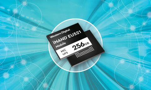 The Western Digital iNAND MC EU521 embedded flash device is optimized for UFS 3.1 offering enhanced user experiences for 5G applications and capabilities. (Graphic: Business Wire)