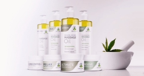 Abacus Health Product's CBD CLINIC Massage Therapy Series, a line of eight new massage oils and creams. (Photo: Abacus Health Products Inc.)