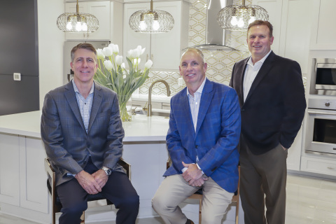 Houston-based Newmark Homes is resuming operations in Austin after a decade-long hiatus. Shown here, from left, are Newmark Chairman and Chief Executive Officer Mike Moody, President Jeff Dye and new President of the Austin division Shay Brinkley. Newmark is starting presales in two Austin-area communities. (Photo: Business Wire)