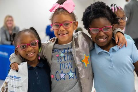 National Vision Donates More Than 8,100 Pairs of Eyeglasses to Kids in Need (Photo: Business Wire)