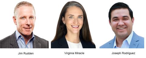 Jim Rudden, Virginia Miracle, Joseph Rodriguez (Photo: Business Wire)