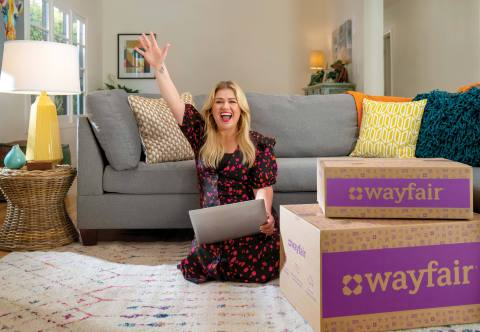 Wayfair partners with Kelly Clarkson to inspire shoppers to create homes they love. (Photo: Business Wire)