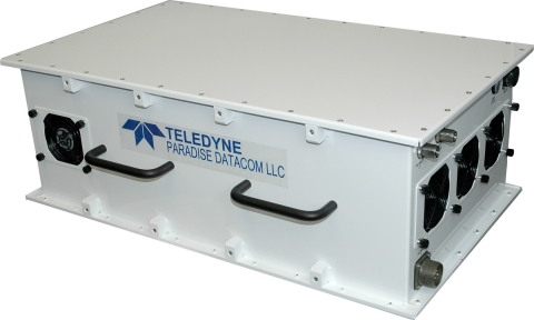 Dual L/S Band SSPA from Teledyne Paradise with High Power Outdoor Enclosure. (Photo: Business Wire)