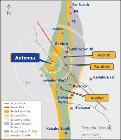 Séguéla Satellite Prospects (Graphic: Business Wire)