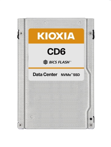 KIOXIA's CD6 Series of x4 PCIe Gen4 and NVMe data center SSDs are single-ported for servers, and targeted to large-scale data center deployments and general purpose applications. (Photo: Business Wire)