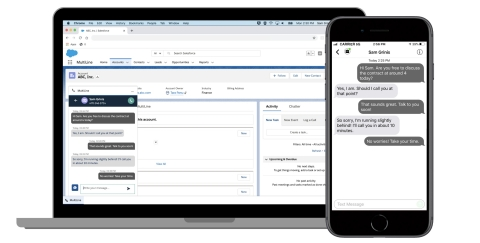 Create smarter workflows and enrich client communication with MultiLine for Salesforce (Graphic: Business Wire)