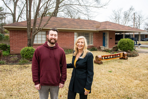 A $10,000 Homebuyer Equity Leverage Partnership grant from Centennial Bank and FHLB Dallas provided a down payment on a home for Conway, Arkansas, resident. (Photo: Business Wire)