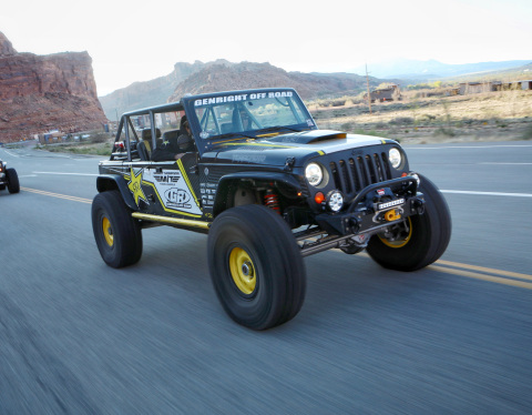 GenRight Off Road-built street-legal 4400 Unlimited Class race vehicle Terremoto on the way to a trail ride in Moab, Utah. (Photo: Business Wire)