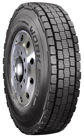 The new Cooper WORK Series All Weather Drive tire for regional fleets is the first commercial tire to feature Cooper's Snow Groove Technology. It also is Three Peak Mountain Snowflake certified, verifying its outstanding all-weather performance. (Photo: Business Wire)