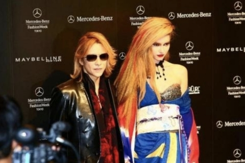 "YOSHIKI's kimono design from Mercedes-Benz Fashion Week Tokyo 2016 S/S will be on display at the V&A's ""Kimono: Kyoto to Catwalk"" exhibition (Photo: Business Wire)"