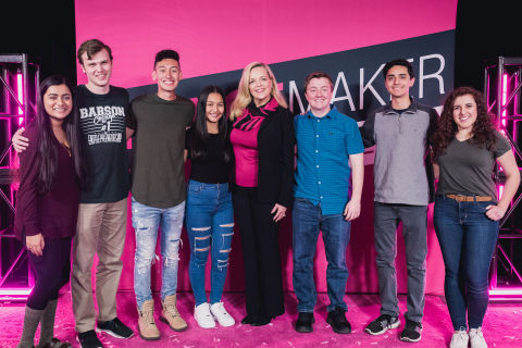 Surprise! T-Mobile Announces Not Just One, But Three Grand Prize Winners of the Second-Annual Changemaker Challenge (Photo: Business Wire)