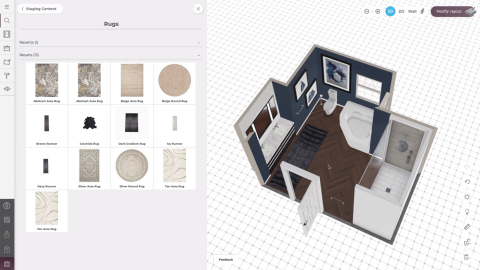 Powered by the Marxent® 3D Room Planner (seen here), Social Rooms™ makes it easy for marketers to design interior scenes, then post beautiful, fully rendered images to Pinterest, Instagram, Facebook, and other social media channels. (Photo: Business Wire)