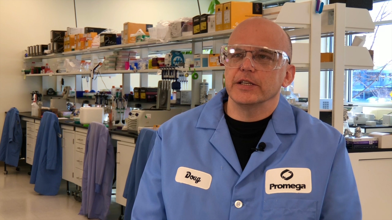 Promega Research & Development Scientist Douglas Horejsh discusses the new Wizard® HMW DNA Extraction Kit for researchers working with large fragments of genomic DNA. Promega is presenting a poster at this week's 2020 Advances in Genome Biology and Technology (AGBT) meeting that demonstrates how the kit enables researchers to obtain DNA that will provide strong performance in long-read sequencing applications up to 500kb.
