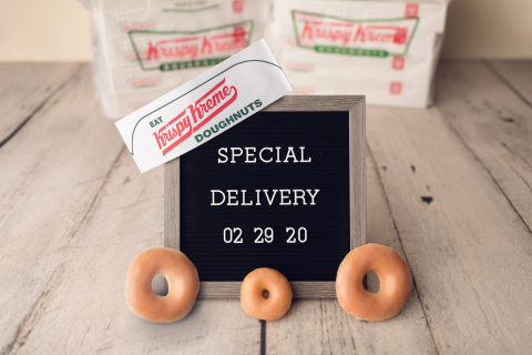 Krispy Kreme Will Celebrate Saturday with Special Deliveries of Free Dozens to Parents and Hospital Staff Who Deliver Leap Day Babies (Photo: Business Wire)