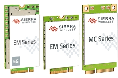 Sierra Wireless 5G/4GMobile Broadband Embedded Modules (Photo: Business Wire)