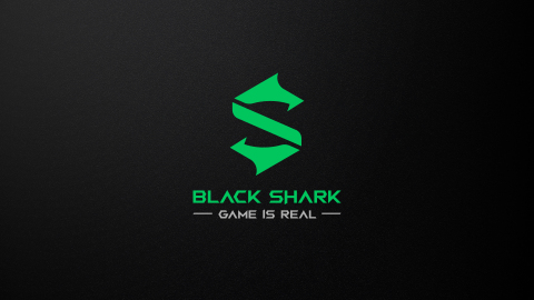 "Black Shark's new logo and corporate slogan ""Game is Real""."