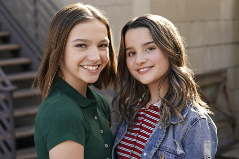 Social media sensations Jayden Bartels and Annie LeBlanc will star in Nickelodeon's brand-new live-action buddy comedy series, Side Hustle, premiering later this year. (Photo: Business Wire)
