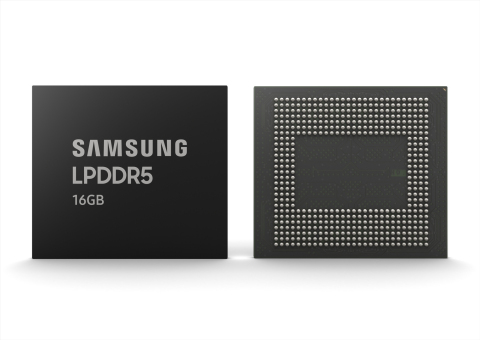 New Samsung 16GB LPDDR5 Mobile Memory (Graphic: Business Wire)