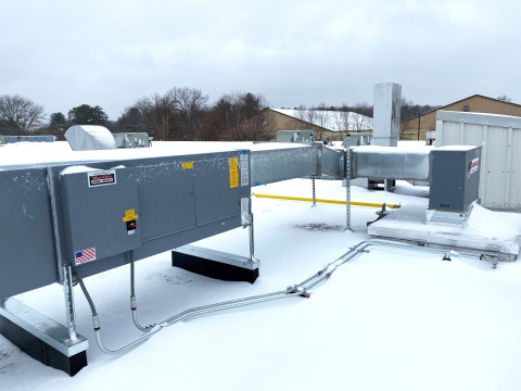 Example of new heater installed for RSCC's HVAC efficiency project by Fairbanks Energy Services (Photo: Business Wire)