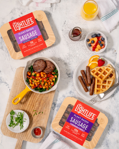 Lightlife is introducing Plant-Based Breakfast Sausage Links and Plant-Based Sausage Patties that offer all the taste and texture of traditional pork but are made from all plant-based ingredients. (Photo: Business Wire)