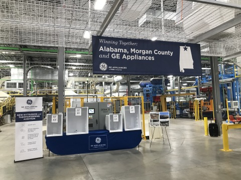 GE Appliances' Decatur, AL refrigerator plant unveiled a new section of the plant after the completion of a $125M investment. (Photo: GE Appliances, a Haier company)