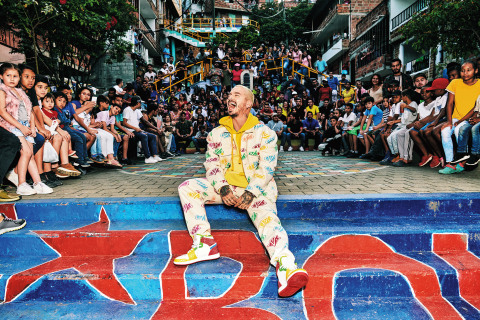 GUESS?, Inc. Announces the Return of Global Music Superstar J Balvin With Spring 2020 GUESS x J Balvin Colores Capsule Collection and Campaign (Photo: Business Wire)