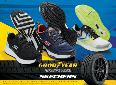 Select Skechers styles now feature Goodyear Performance Outsoles for enhanced grip, stability and durability. (Photo: Business Wire)